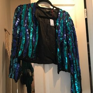 Vintage beaded/sequin jacket, size Small